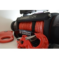 Carbon Winches Australia 24m x 10mm Synthetic Rope Spliced with thimble