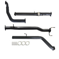 "FORD RANGER PJ PK 2.5L & 3.0L AUTO 3"" TURBO BACK CARBON OFFROAD EXHAUST WITH PIPE ONLY"