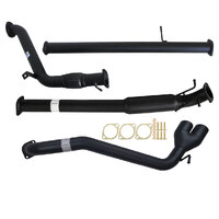 "FORD RANGER PX 3.2L 9/2011 - 9/2016 3"" TURBO BACK CARBON OFFROAD EXHAUST WITH HOTDOG ONLY SIDE EXIT TAILPIPE"