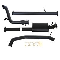 "FORD RANGER PX 2.2L 9/2011 - 9/2016 3"" TURBO BACK CARBON OFFROAD EXHAUST MUFFLER & NO CAT"