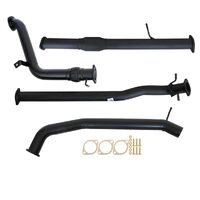 "FORD RANGER PX 2.2L 9/2011 - 9/2016 3"" TURBO BACK CARBON OFFROAD EXHAUST CAT NO MUFFLER"