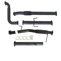 "MITSUBISHI TRITON MN 2.5L 4D56 HP 7/2009 - 1/2015 3"" TURBO BACK CARBON OFFROAD EXHAUST WITH HOTDOG NO CAT"