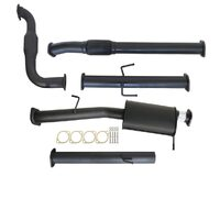 "MITSUBISHI TRITON MN 2.5L 4D56 HP 7/2009 - 1/2015 3"" TURBO BACK CARBON OFFROAD EXHAUST WITH CAT AND MUFFLER"