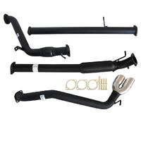 "MAZDA BT-50 UP, UR 3.2L 9/2011 - 9/2016 3"" TURBO BACK CARBON OFFROAD EXHAUST WITH HOTDOG ONLY SIDE EXIT TAILPIPE"