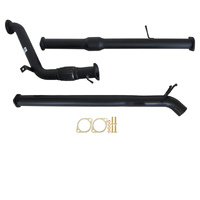 "MAZDA BT-50 UP, UR 3.2L 2011 - OCT 2016 3"" TURBO BACK CARBON OFFROAD EXHAUST WITH CAT & DIFF DUMP TAILPIPE"