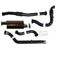 "NISSAN PATROL GU Y61 3.0L 2000 -2016 UTE| WAGON 3"" TURBO BACK CARBON OFFROAD EXHAUST WITH CAT & MUFFLER"