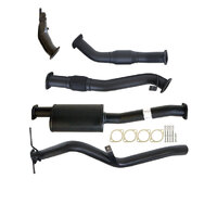 "NISSAN NAVARA D22 2.5L YD25 07 - 15 3"" TURBO BACK CARBON OFFROAD EXHAUST SYSTEM WITH CAT & MUFFLER"