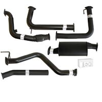 "NISSAN NAVARA D40 MANUAL 2.5L YD25D 07 - 16 3"" TURBO BACK CARBON OFFROAD EXHAUST WITH MUFFLER NO CAT"