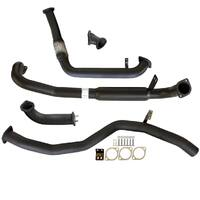 "TOYOTA LANDCRUISER 80 SERIES 4.2L 1HD-FT TD 1990 -1998 3"" TURBO BACK CARBON OFFROAD EXHAUST WITH HOTDOG"