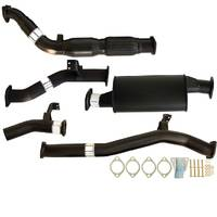 "TOYOTA LANDCRUISER 76 SERIES VDJ76 WAGON 4.5L V8 07 - 9/2016 3"" TURBO BACK CARBON OFFROAD EXHAUST CAT & MUFFLER"