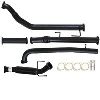 "TOYOTA HILUX KUN16/26 3L 1KD-FTV D4D 2005 - 9/2015 3"" TURBO BACK CARBON OFFROAD EXHAUST WITH HOTDOG ONLY"