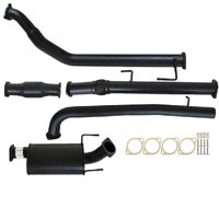 "TOYOTA HILUX KUN16/26 3L 1KD-FTV D4D 2005 - 9/2015 3"" TURBO BACK CARBON OFFROAD EXHAUST WITH CAT & MUFFLER"