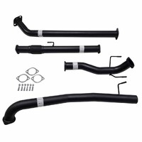 "TOYOTA HILUX GUN122/125R 2.4L 2GD-FTVTD 2017>3"" #DPF# BACK CARBON OFFROAD EXHAUST WITH PIPE ONLY"