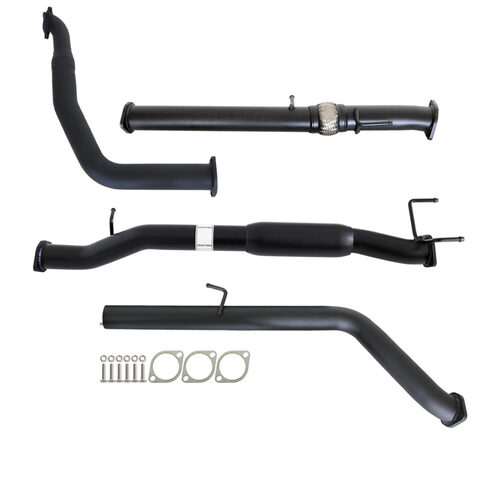"FORD RANGER PJ PK 2.5L & 3.0L AUTO 3"" TURBO BACK CARBON OFFROAD EXHAUST WITH HOTDOG ONLY"