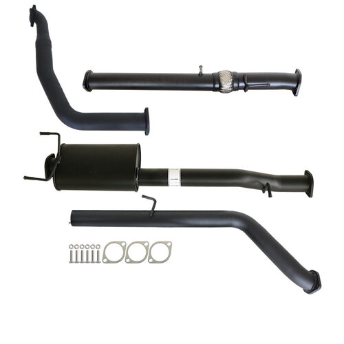 "FORD RANGER PJ PK 2.5L & 3.0L AUTO 3"" TURBO BACK CARBON OFFROAD EXHAUST WITH MUFFLER NO CAT"