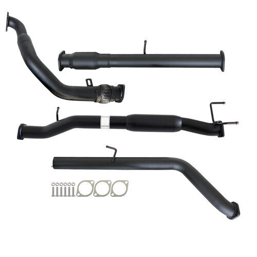 "FORD RANGER PJ PK 2.5L & 3.0L 07 - 11 MANUAL 3"" TURBO BACK CARBON OFFROAD EXHAUST WITH CAT & HOTDOG"