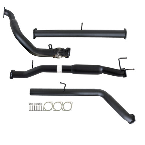 "FORD RANGER PJ PK 2.5L & 3.0L 07 - 11 MANUAL 3"" TURBO BACK CARBON OFFROAD EXHAUST WITH HOTDOG ONLY"