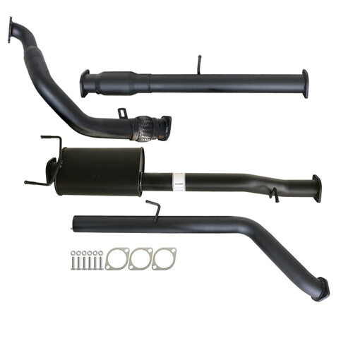 "FORD RANGER PJ PK 2.5L & 3.0L 07 - 11 MANUAL 3"" TURBO BACK CARBON OFFROAD EXHAUST WITH CAT & MUFFLER"