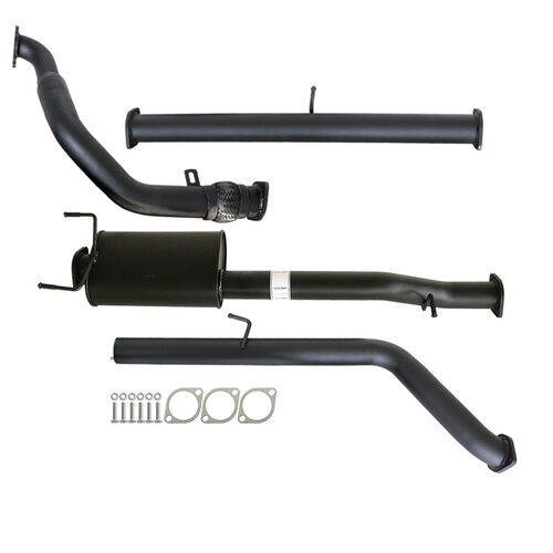 "FORD RANGER PJ PK 2.5L & 3.0L 07 - 11 MANUAL 3"" TURBO BACK CARBON OFFROAD EXHAUST WITH MUFFLER NO CAT"