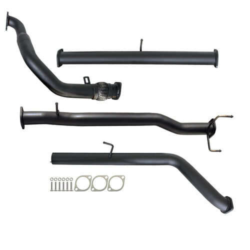 "FORD RANGER PJ PK 2.5L & 3.0L 07 - 11 MANUAL 3"" TURBO BACK CARBON OFFROAD EXHAUST PIPE ONLY"