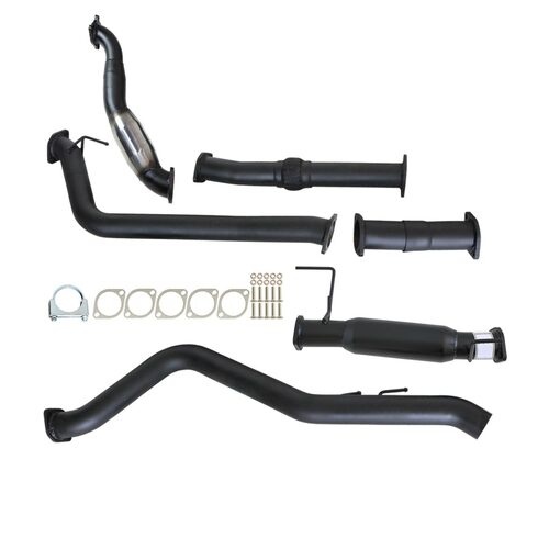 "HOLDEN RODEO RA 3.0L 4JJ1-TC 1/2007 - 12/2008 3"" TURBO BACK CARBON OFFROAD EXHAUST WITH CAT AND HOTDOG"