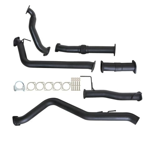 "ISUZU D-MAX RC 3.0L 4JJ1-TC 2008 - 2010 3"" TURBO BACK CARBON OFFROAD EXHAUST WITH PIPE ONLY"