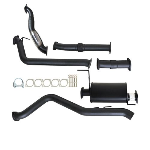 "ISUZU D-MAX RC 3.0L 4JJ1-TC 5/2010 - 5/2012 3"" TURBO BACK CARBON OFFROAD EXHAUST WITH MUFFLER & CAT"