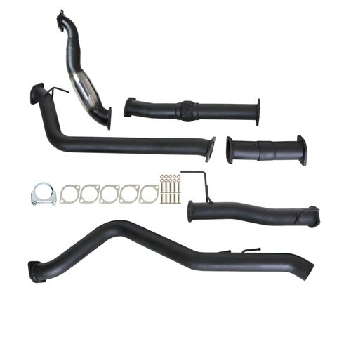 "ISUZU D-MAX RC 3.0L 4JJ1-TC 5/2010 - 5/2012 3"" TURBO BACK CARBON OFFROAD EXHAUST WITH CAT & NO MUFFLER"