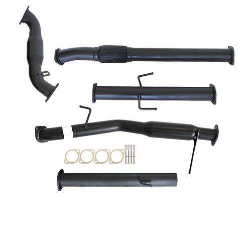 "MITSUBISHI TRITON ML 2.5L 4D56 06 - 09 3"" TURBO BACK CARBON OFFROAD EXHAUST WITH CAT AND HOTDOG"