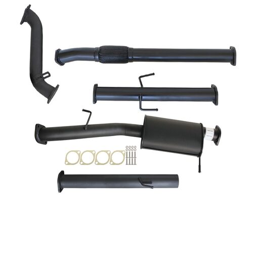 "MITSUBISHI TRITON ML 2.5L 4D56 06 - 09 3"" TURBO BACK CARBON OFFROAD EXHAUST WITH MUFFLER NO CAT"
