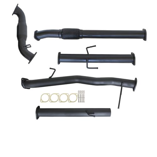 "MITSUBISHI TRITON ML 2.5L 4D56 06 - 09 3"" TURBO BACK CARBON OFFROAD EXHAUST WITH CAT NO MUFFLER"