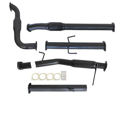"MITSUBISHI TRITON MN 2.5L 4D56 HP 7/2009 - 1/2015 3"" TURBO BACK CARBON OFFROAD EXHAUST WITH CAT AND HOTDOG"