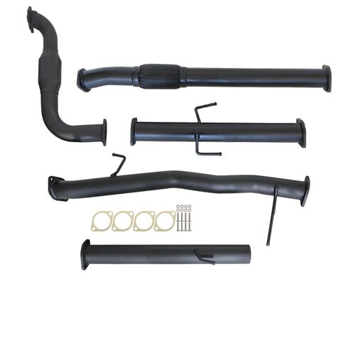 "MITSUBISHI TRITON MN 2.5L 4D56 HP 7/2009 - 1/2015 3"" TURBO BACK CARBON OFFROAD EXHAUST WITH CAT NO MUFFLER"