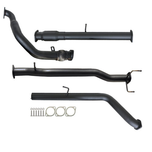 "MAZDA BT-50 UN 2.5L & 3.0L 07 - 11 MANUAL 3"" TURBO BACK CARBON OFFROAD EXHAUST WITH CAT NO MUFFLER"