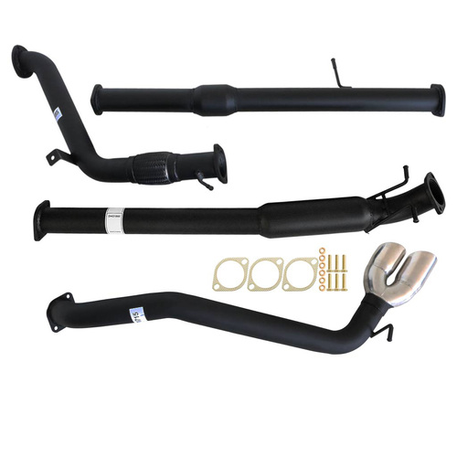 "MAZDA BT-50 UP| UR 3.2L 2011 - 9/2016 3"" TURBO BACK CARBON OFFROAD EXHAUST WITH CAT/HOTDOG & DIFF DUMP TAILPIPE"
