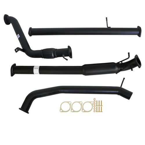 "MAZDA BT-50 UP| UR 3.2L 2011 - 9/2016 3"" TURBO BACK CARBON OFFROAD EXHAUST WITH HOTDOG NO CAT"
