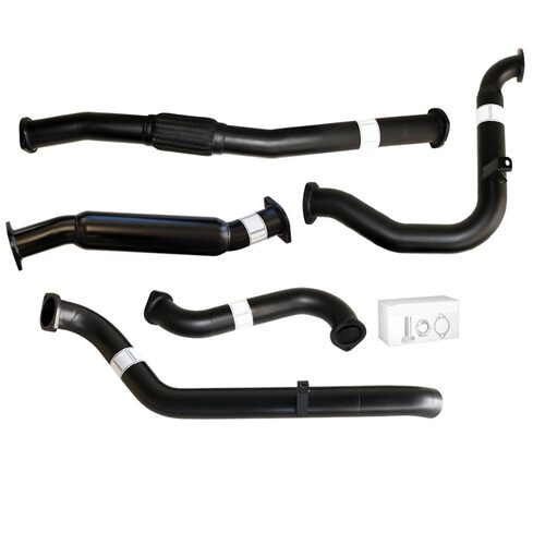 "NISSAN PATROL GU Y61 3.0L 2000 -2016 UTE| WAGON 3"" TURBO BACK CARBON OFFROAD EXHAUST WITH HOTDOG ONLY - NO CAT"