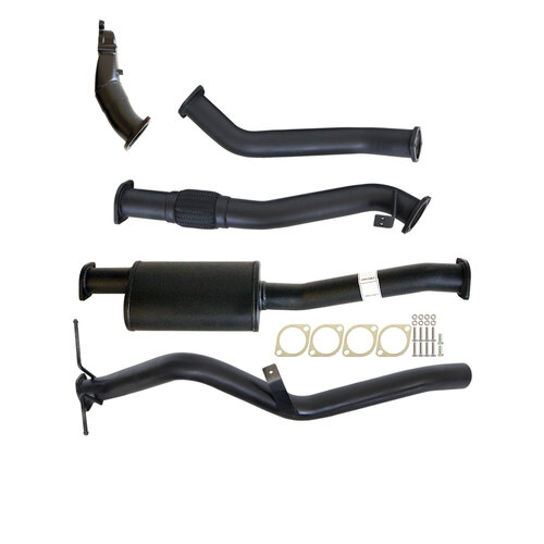 "NISSAN NAVARA D22 2.5L YD25 07 - 15 3"" TURBO BACK CARBON OFFROAD EXHAUST SYSTEM WITH MUFFLER NO CAT"