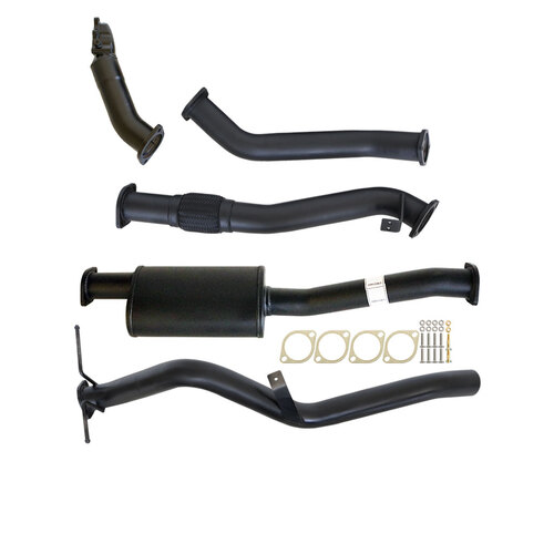 "NISSAN NAVARA D22 3.0L ZD30-T 01 - 06 3"" TURBO BACK CARBON OFFROAD EXHAUST SYSTEM WITH MUFFLER NO CAT"
