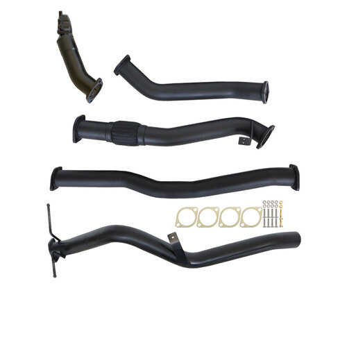 "NISSAN NAVARA D22 3.0L ZD30-T 01 - 06 3"" TURBO BACK CARBON OFFROAD EXHAUST SYSTEM WITH PIPE ONLY"