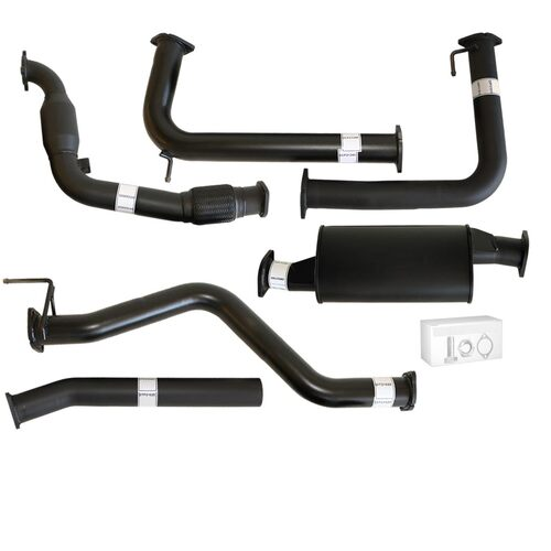 "NISSAN NAVARA D40 MANUAL 2.5L YD25D 07 - 16 3"" TURBO BACK CARBON OFFROAD EXHAUST WITH MUFFLER & CAT"