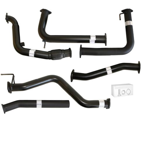 "NISSAN NAVARA D40 AUTO #DPF REPLACE# 2.5L YD25D 07 - 16 3"" TURBO BACK CARBON OFFROAD EXHAUST WITH PIPE ONLY"