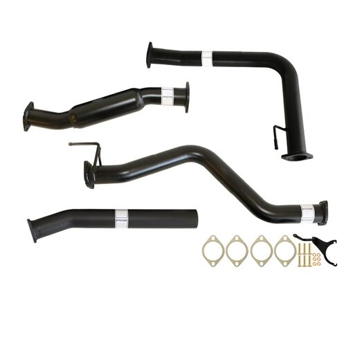 "NISSAN NAVARA D40 AUTO 2.5L YD25D 07 - 16 3"" #DPF# BACK CARBON OFFROAD EXHAUST WITH CAT AND PIPE"