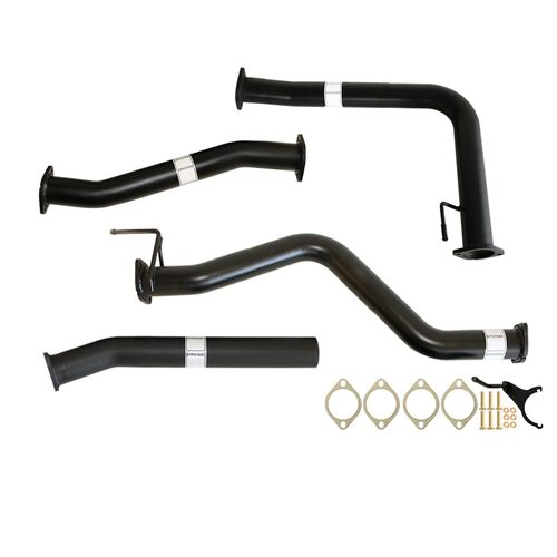 "NISSAN NAVARA D40 AUTO 2.5L YD25D 07 - 16 3"" #DPF# BACK CARBON OFFROAD EXHAUST WITH HOTDOG ONLY"