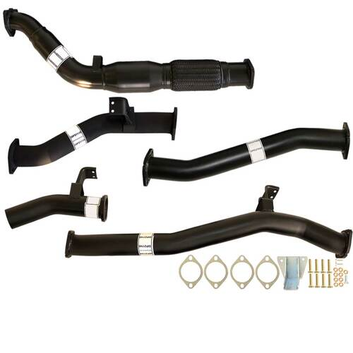"TOYOTA LANDCRUISER 76 SERIES VDJ76 WAGON 4.5L V8 07 - 9/2016 3"" TURBO BACK CARBON OFFROAD EXHAUST CAT & NO MUFFLER"