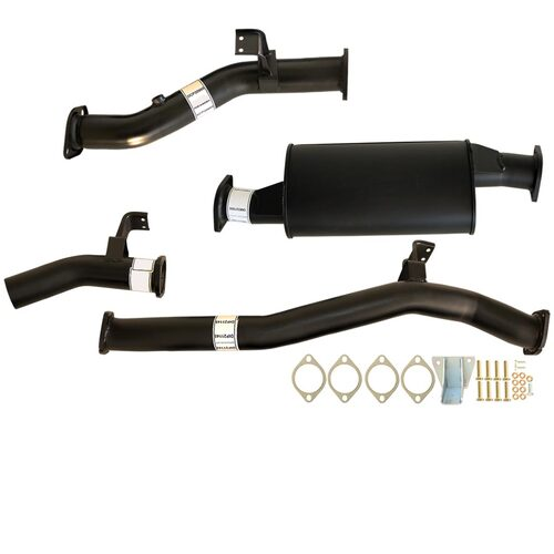 "TOYOTA LANDCRUISER 76 SERIES VDJ76 WAGON 4.5L V8 9/2016>3"" #DPF# BACK CARBON OFFROAD EXHAUST WITH MUFFLER"